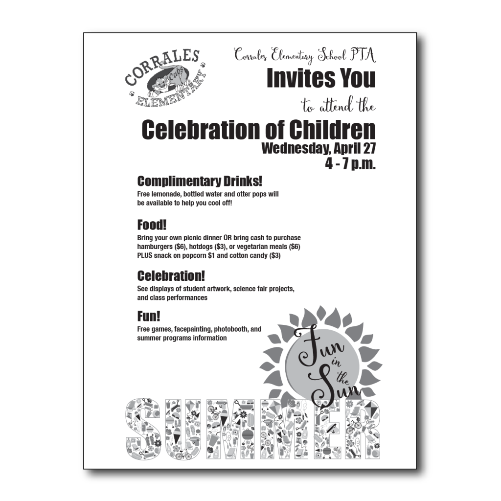Celebration of Children Flyer #2 front