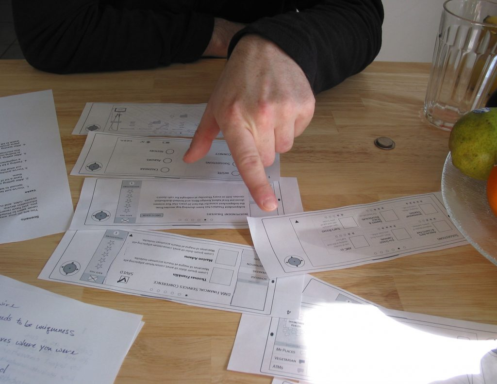 INsite process wireframes
